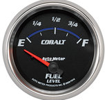 """Autometer Gauge, Fuel Level, 2 5/8"""", 0?E to 90?F, Elec, Cobalt 7914"""
