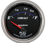 "Autometer Gauge, Fuel Level, 2 5/8"", 73?E to 10?F, Elec, Cobalt 7915"