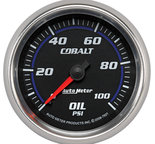 "Autometer Gauge, Oil Pressure, 2 5/8"", 100psi, Mechanical, Cobalt 7921"