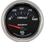 "Autometer Gauge, Oil Pressure, 2 5/8"", 100psi, Electric, Cobalt 7927"