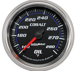 "Autometer Gauge, Oil Temp, 2 5/8"", 140-280şF, Mechanical, Cobalt 7941"