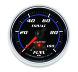 "Autometer Gauge, Fuel Press, 2 5/8"", 100psi, Stepper Motor w/ Peak & Warn, Cobalt 7963"