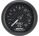 """Autometer Gauge, Pyrometer (EGT), 2 1/16"""", 1600şF, Digital Stepper Motor, GT 8044"""