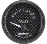 """Autometer Gauge, Voltmeter, 2 1/16"""", 18V, Elec, GT 8092"""