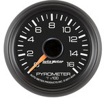 "Autometer Gauge, Pyrometer (EGT), 2 1/16"", 1600şF, Stepper Motor, GM Factory Match 8344"