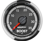 "Autometer Gauge, Boost, 2 1/16"", 35psi, Mechanical, Ram Gen 4 Factory Match 8507"