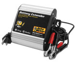 Autometer Battery Charger/Maintainer, 12V, 1A charge/250mA maintain, Battery Extender 9201