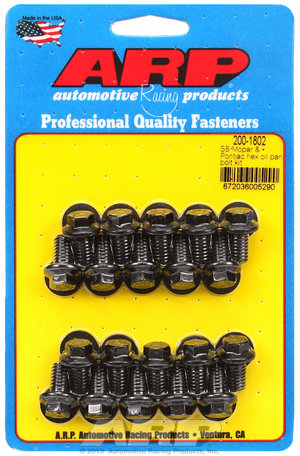 ARP SB Mopar & Pontiac hex oil pan bolt kit 2001802