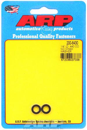ARP 1/4 ID .440 OD no chamfer black washers 2008430