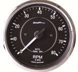 "Autometer Gauge, Tachometer, 4"", 8k RPM, In-Dash (8 CYL Only!), Cobra 201004"