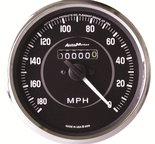 "Autometer Gauge, Speedometer, 4"", 180mph, Mechanical (Reverse Rotation), Cobra 201005"