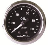 "Autometer Gauge, Oil Pressure, 2 1/16"", 100psi, Mechanical, Cobra 201006"