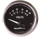 "Autometer Gauge, Voltmeter, 2 1/16"", 18V, Electric, Cobra 201009"
