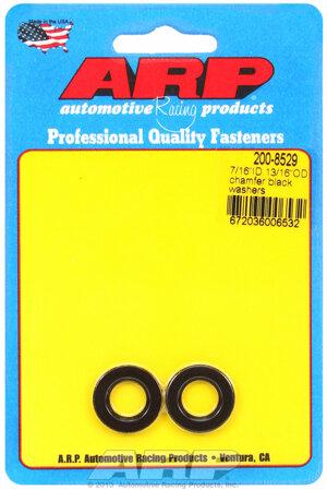 ARP 7/16 ID 13/16 OD chamfer black washers 2008529