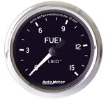 "Autometer Gauge, Fuel Pressure, 2 5/8"", 15psi, Mech. Incl. Isolator, Cobra 201010"