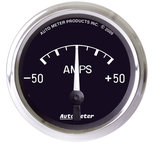 "Autometer Gauge, Ammeter, 2 1/16"", 50A, Electric, Cobra 201012"