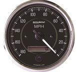 "Autometer Gauge, Speedometer, 4"", 180mph, Elec. Program. (Reverse Rotation), Cobra 201013"