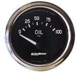 "Autometer Gauge, Oil Pressure, 2 1/16"", 100psi, Electric, Cobra 201014"