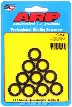 ARP 7/16 ID .750 OD black washers 2008543