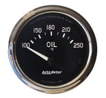 "Autometer Gauge, Oil  Temp, 2 1/16"", 100-250şF, Electric, Cobra 201018"