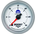 "Autometer Gauge, Boost, 2 1/16"", 30psi, Digital Stepper Motor, White, Mopar 880034"