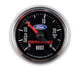 """Autometer Gauge, Vac/Boost, 2 1/16"""", 30inHg-30psi, Digital Stepper Motor, Ford Racing 880074"""