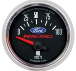 "Autometer Gauge, Oil Press, 2 1/16"", 100psi, Elec, Ford Racing 880076"