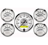 "Autometer Gauge Kit, 5 pc., 3 1/8"" & 2 1/16"", Elec. Speedometer, Ford Masterpiece 880087"