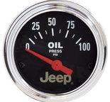 """Autometer Gauge, Oil Press, 2 1/16"""", 100psi, Elec, Jeep 880240"""