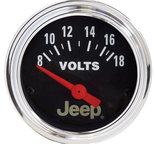 """Autometer Gauge, Voltmeter, 2 1/16"""", 18V, Elec, Jeep 880242"""