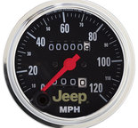 "Autometer Gauge, Speedometer, 3 3/8"", 120mph, Mechanical, Jeep 880245"