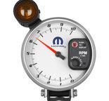 """Autometer Gauge, Tachometer, 5"""", 10k RPM, Pedestal w/ ext. Shift-Lite, White, Mopar 880248"""
