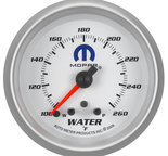 "Autometer Gauge, Water Temp, 2 5/8"", 260şF, Stepper Motor w/ Peak & Warn, White, Mopar 880250"