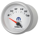 "Autometer Gauge, Voltmeter, 2 5/8"", 18V, Electric, White, Mopar 880252"
