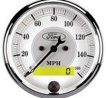 "Autometer Gauge, Speedometer, 3 1/8"", 120mph, Elec. Prog. w/ LCD Odo, Ford Masterpiece 880355"