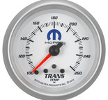 "Autometer Gauge, Trans Temp, 2 5/8"", 260şF, Stepper Motor w/ Peak & Warn, White, Mopar 880359"