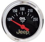 """Autometer Gauge, Oil Temp, 2 1/16"""", 250şF, Elec, Jeep 880429"""