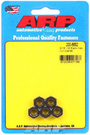 ARP 5/16-18 black coarse hex nut kit 2008652