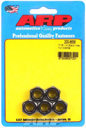 ARP 7/16-14 black coarse hex nut kit 2008656