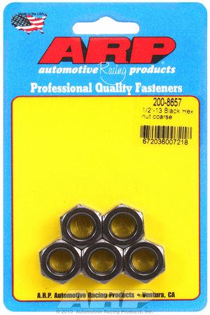 ARP 1/2-13 black coarse hex nut kit 2008657