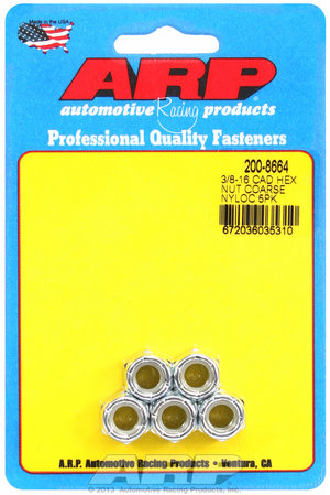 ARP 3/8-16 cad coarse nyloc hex nut kit 2008664