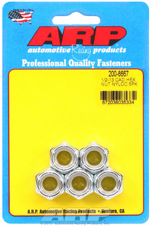 ARP 1/2-13 cad coarse nyloc hex nut kit 2008667