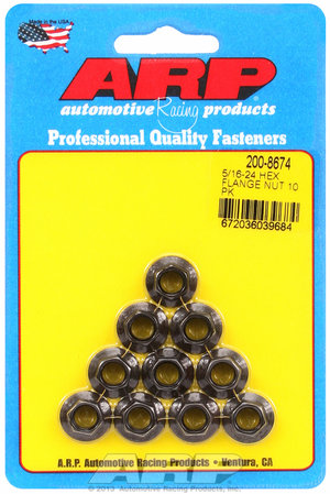 ARP 5/16-24 hex flange nut kit 2008674