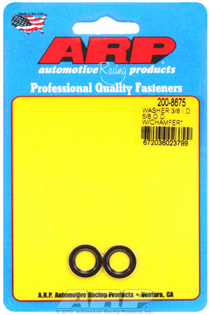 ARP 3/8 ID 5/8 OD machined chamfer black washers 2008675