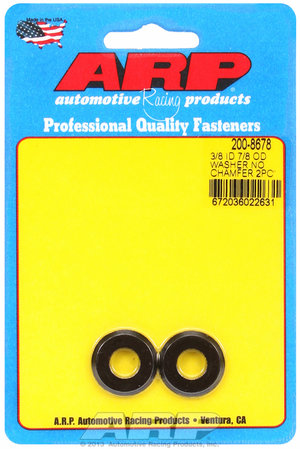 ARP 3/8 ID 7/8 OD(radiused) black washers 2008678