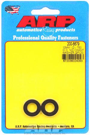 ARP M10 ID 3/4 OD chamfer black washers 2008679