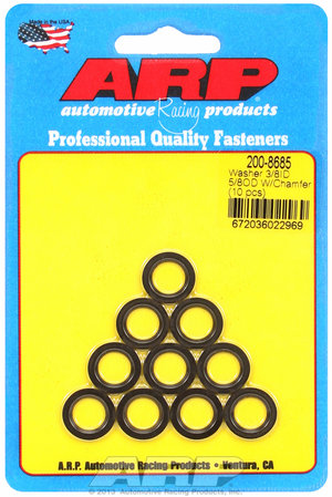 ARP 3/8 ID 5/8 OD machined chamfer black washers 2008685