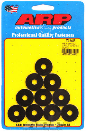 ARP M6 ID .990 OD black washers 2008696