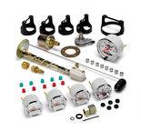 "Autometer Gauge Kit, 5 pc., 3 1/8"" & 2 1/16"", Elec. Speedo., Chevrolet Heritage Bowtie 1302-00408"