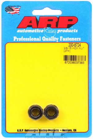 ARP 3/8-16 black hex nut kit 2008724